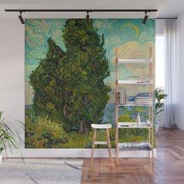 Cypresses Oil Painting Landscape Vincent van Gogh Wall Mural
