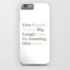 Inspiration Typography Quote Words Pastel  Slim Case iPhone 6s