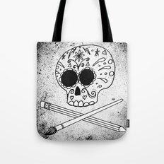 Ink Skull Tote Bag