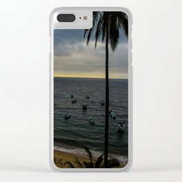 Dreamy Mexican Beach Sunset Clear iPhone Case