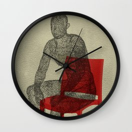 red chair Wall Clock