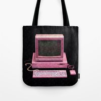 gaming Tote Bags featuring Retro Gaming by Cullen Rawlins