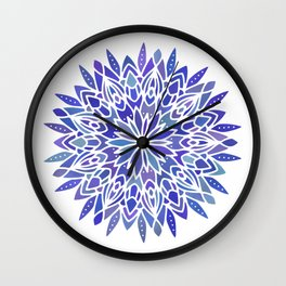 Mandala Vivid Blue Wall Clock