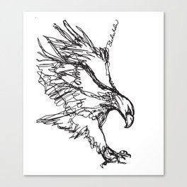 Eagle Landing (all one line) Canvas Print