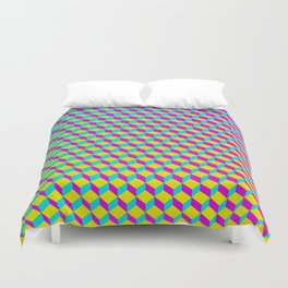 Colorful 3D Cubes Pattern Duvet Cover