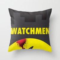 watchmen Throw Pillows featuring Watchmen by Thcenk