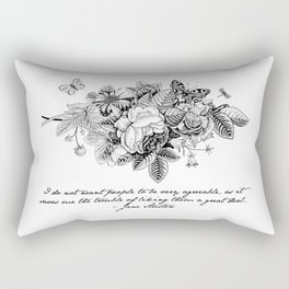 Words of Wisdom: Jane Austen Rectangular Pillow