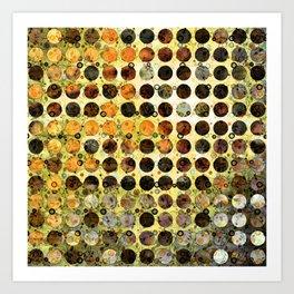 MELANGE OF YELLOW OCKER and BROWN Art Print
