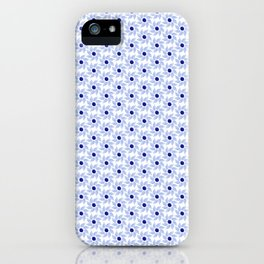 Blue flowers with a pattern in the Russian style iPhone Case