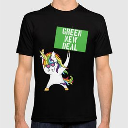 Green New Deal Unicorn Activist Socialist Equity Climate Change Gretta Thunberg T-shirt