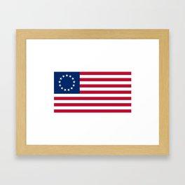 American Betsy Ross Flag Framed Art Print