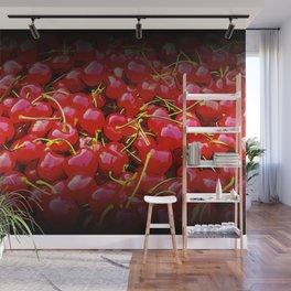 cherries pattern reaclistd Wall Mural