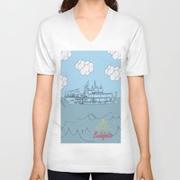 zissou V-neck T-shirts featuring Zissou Boat by Jarom Ward