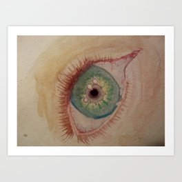 Red Eye Art Print