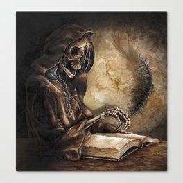 Skeleton Scribe Canvas Print