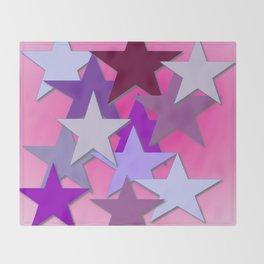 Purple Stars, Many Stars, Star Bright Throw Blanket