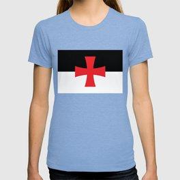 Knights Templar Flag - High Quality T-shirt