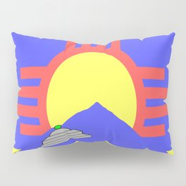 flag of Roswell with flying saucer Pillow Sham