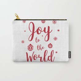 Joy to the World Typography Carry-All Pouch