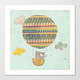 Bear in the air Canvas Print