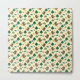 Moccomerian pattern Metal Print