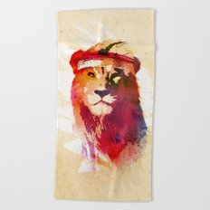 Gym Lion Beach Towel