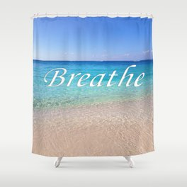 Breathe Cayman Relaxing Beach Waves Shower Curtain