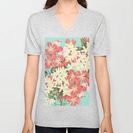 Clematis Floral Pattern Unisex V-Neck