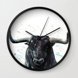 Buffalo watercolor Wall Clock