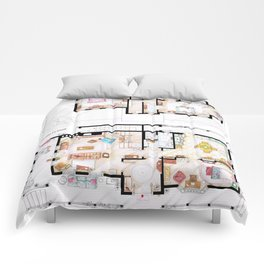 House of Lorelai & Rory Gilmore - Both Floorplans Comforters