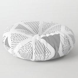 Patern in memphis, pop art style Floor Pillow