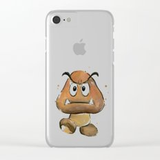 Goomba Watercolor Painting Clear iPhone Case