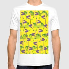 Blooming at a Crossroads White MEDIUM Mens Fitted Tee