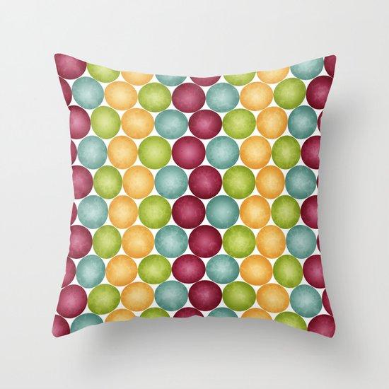 Polka Me Dotty! Throw Pillow