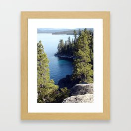 """End of the Trail, Emerald Bay"" Framed Art Print"