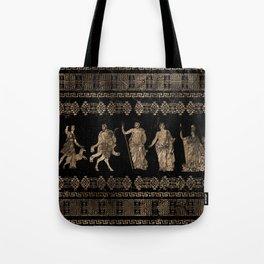 Greek Deities and Meander key ornament Tote Bag