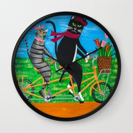 Kitty Cat Outing Wall Clock