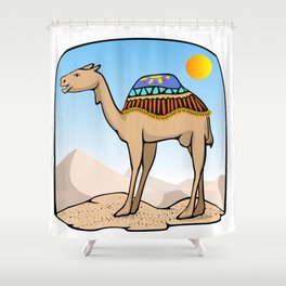 Exalted Camel Shower Curtain