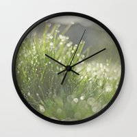 grass Wall Clocks featuring Grass by Pure Nature Photos
