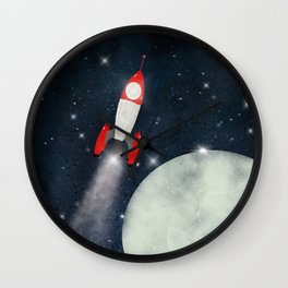 pass the moon Wall Clock