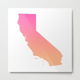 California Summer Ombre Metal Print