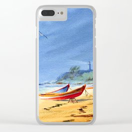 Sudden Storm at Maunabo Beach Puerto Rico Clear iPhone Case