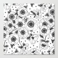 oana befort Canvas Prints featuring Anemone by Oana Befort