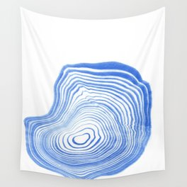 Ryu - spilled ink indigo watercolor painting abstract art marble swirl ocean wave marbled pattern  Wall Tapestry