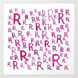 Painted R Art Print