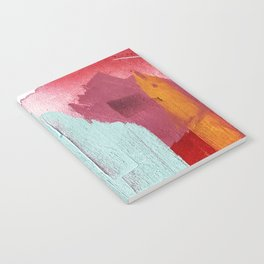 Desert Daydreams [3]: a colorful abstract mixed media piece in purple blue pinks and orange Notebook