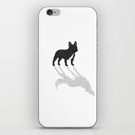 Wild At Heart - Black French Bulldog iPhone Skin