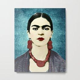Frida Kahlo Dark Metal Print