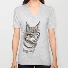 Lynx Cat Unisex V-Neck