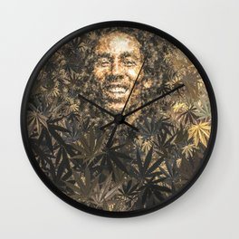 420 leafs Wall Clock